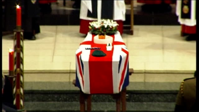 truro cathedral int christina schmid along to podium christina schmid eulogy sot in my eyes my husband my son's father was a warrior in past... - eulogy stock videos & royalty-free footage