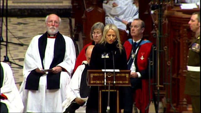 truro cathedral int christina schmid eulogy sot fought his fears for him becoming his widow has been the hardest thing i've ever done for him please... - eulogy stock videos & royalty-free footage