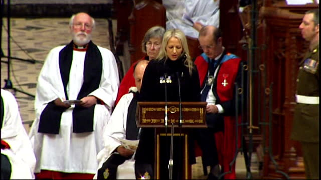 truro cathedral int christina schmid eulogy sot particularly in the last 18 months i've stood by him through as he described his toughest darkest... - eulogy stock videos & royalty-free footage
