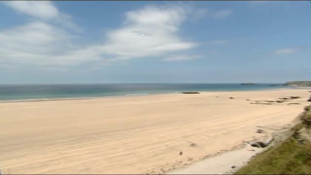 upper towans beach ext general view beach - virginia beach stock videos & royalty-free footage