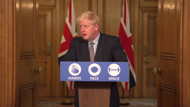 downing street press conference september 9th; england: london: westminster: downing street: int press conference part 7 of 13 boris johnson mp ,... - global communications stock videos & royalty-free footage