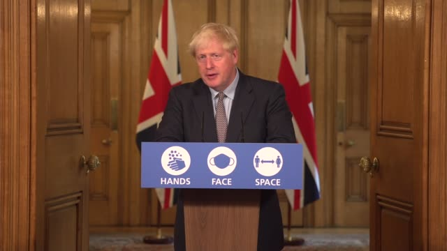 downing street press conference september 9th; england: london: westminster: downing street: int press conference part 13 of 13 boris johnson mp ,... - boris johnson stock videos & royalty-free footage