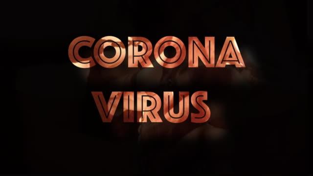 vídeos y material grabado en eventos de stock de texto gráfico de la computadora de la fiebre de la fiebre del virus corona sobre fondo negro - fragilidad