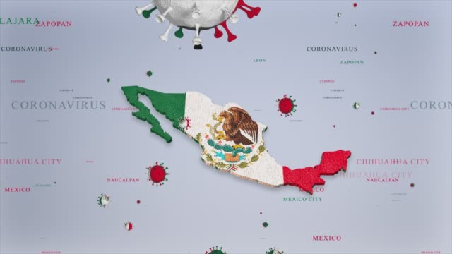 corona virus outbreak with mexico flag and map coronavirus concept stock video - mexico stock videos & royalty-free footage