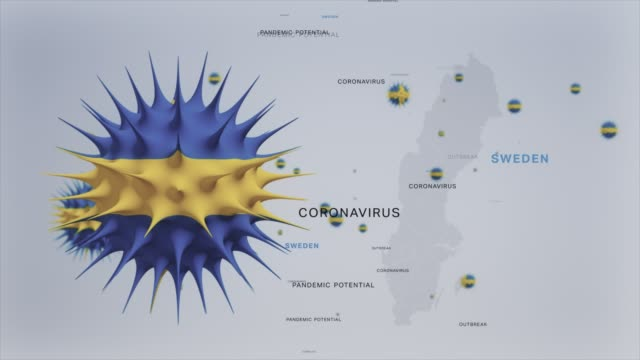 corona virus outbreak with sweden flag and map coronavirus concept stock video - epidemic stock videos & royalty-free footage