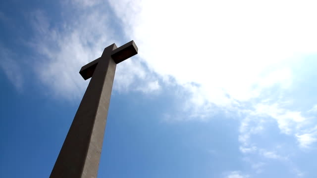 coronado cross with time lapse clouds - catholicism stock videos & royalty-free footage