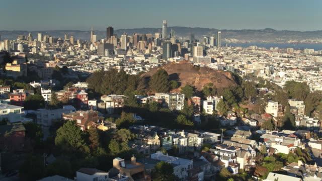 Coronale Heights en San Francisco luchtfoto Cityscape