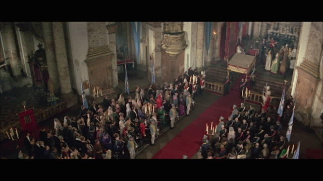 ws ha coronation ceremony in church - coronation stock videos and b-roll footage