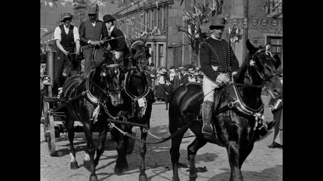 coronation festivities at accrington 1902 - royalty stock videos & royalty-free footage