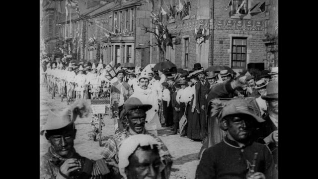 stockvideo's en b-roll-footage met coronation festivities at accrington 1902 - britse koningshuis