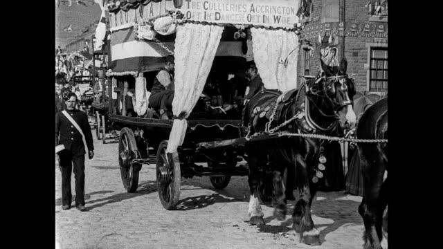 stockvideo's en b-roll-footage met coronation festivities at accrington 1902 - edwardiaanse stijl