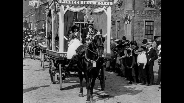 coronation festivities at accrington  1902 - coronation stock videos and b-roll footage