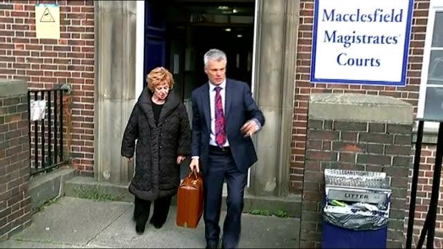 coronation street actress barbara knox pleads 'not guilty' to drinkdriving charge macclesfield macclesfield magistrates' court barbara knox leaving... - ソープオペラ点の映像素材/bロール