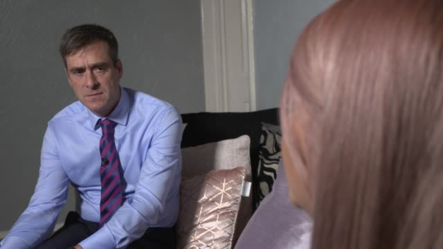 coronation street cervical cancer storyline sees 'uptake in screening' england int emily doyle interview sot - soap opera stock videos & royalty-free footage