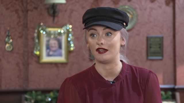 coronation street cervical cancer storyline sees 'uptake in screening' england manchester int katie mcglynn interview sot emily doyle setups playing... - soap opera stock videos & royalty-free footage