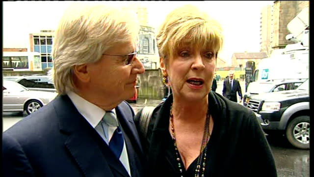 coronation street stars attend memorial service for maggie jones anne kirkbride and william roache interview sot on missing maggie jones alison king... - will.i.am stock videos & royalty-free footage