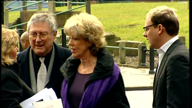 coronation street stars attend memorial service for maggie jones england greater manchester salford cathedral ext shobna gulati and karen henthorn... - will.i.am stock videos & royalty-free footage