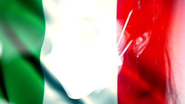 coronavirus 2019-ncov novel coronavirus concept motion background, patience with protective mask and italy flag overlay. - italy stock videos & royalty-free footage
