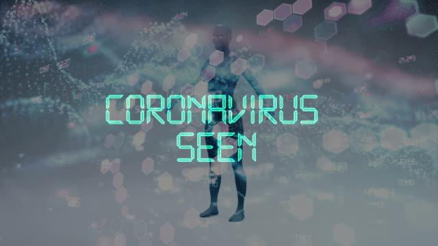 coronavirus 2019-ncov title animation - retrovirus stock videos & royalty-free footage