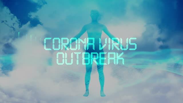 vidéos et rushes de coronavirus 2019-ncov titre d'animation - prophylaxie