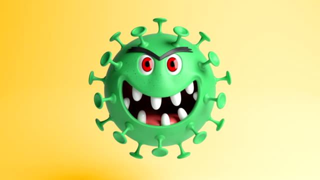 coronavirus 3d character - biohazard symbol stock videos & royalty-free footage