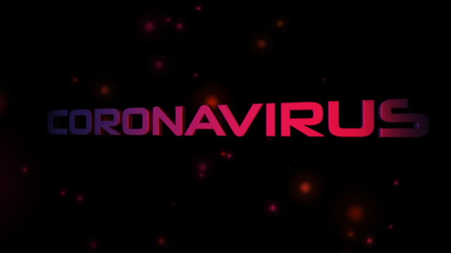 coronavirus 3d text - 3d animation stock videos & royalty-free footage