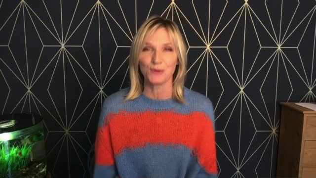 adults on learning disability register to be prioritised for jabs; england: london: int jo whiley interview via internet sot - jo whiley stock videos & royalty-free footage