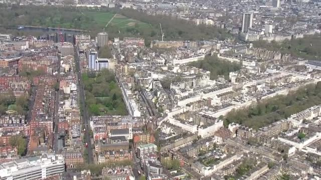 air views of london parks during lockdown england london battersea park track to hyde park hyde park aerial various of police officers on patrol and... - the serpentine london stock videos & royalty-free footage