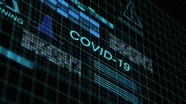 vídeos de stock e filmes b-roll de covid-19 coronavirus alert animation - mutação genética