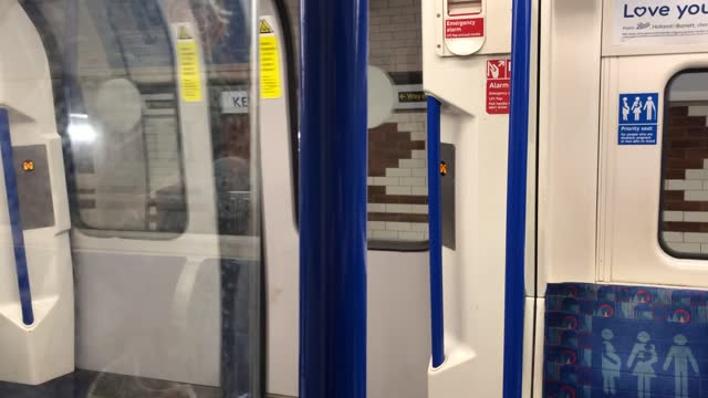 almost empty tube commute through london; england: london: int / tube train gvs on almost empty northern line tube train travelling southbound - underground train stock videos & royalty-free footage
