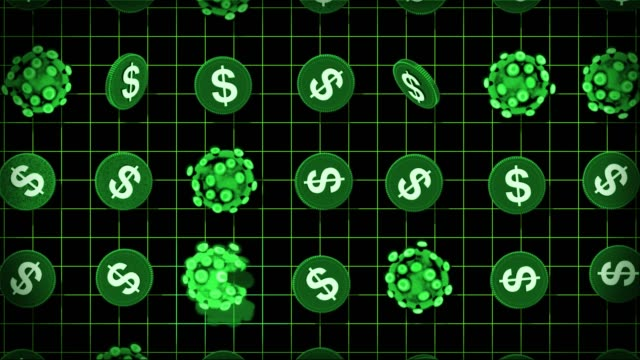 coronavirus and money - dollars - economics stock videos & royalty-free footage