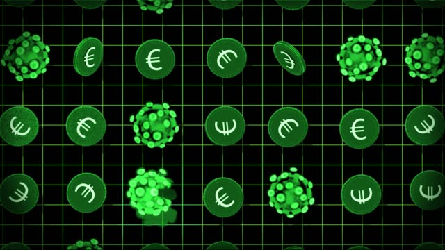 coronavirus and money - euros - european union coin stock videos & royalty-free footage