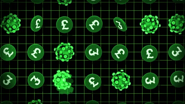 coronavirus and money - sterling pounds - british pound sterling note stock videos & royalty-free footage
