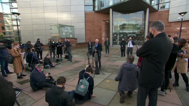 andy burnham press conference cutaways england manchester the bridgewater hall ext andy burnham arriving for press conference / alternative angle of... - bridgewater hall stock videos & royalty-free footage