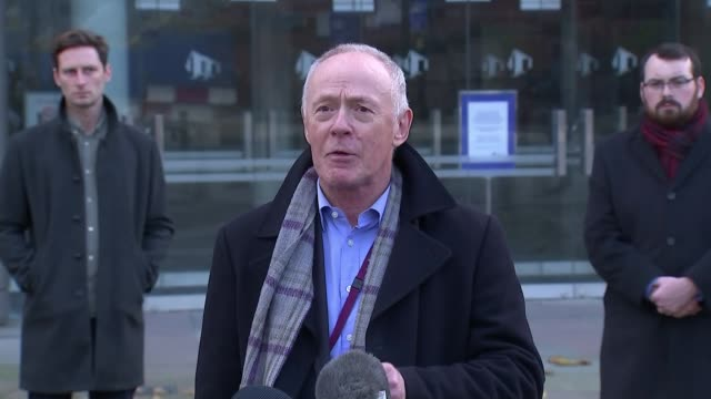 andy burnham press conference / reaction to government tier 3 package offer england manchester the bridgewater hall sir richard leese statement sot - bridgewater hall stock videos & royalty-free footage