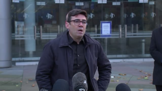 andy burnham press conference / reaction to government tier 3 package offer england manchester the bridgewater hall andy burnham question and answer... - bridgewater hall stock videos & royalty-free footage