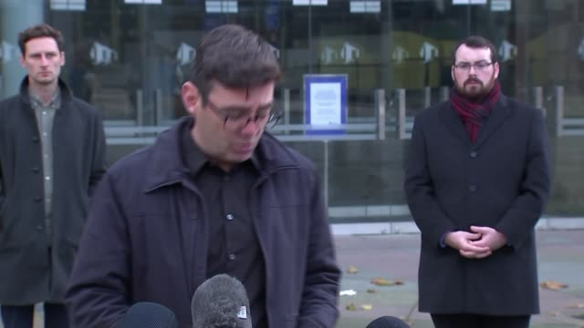 andy burnham press conference / reaction to government tier 3 package offer england manchester the bridgewater hall andy burnham statement sot... - bridgewater hall stock videos & royalty-free footage