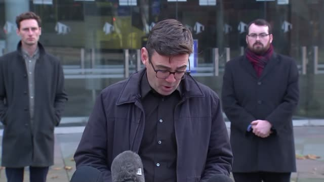 andy burnham press conference / reaction to government tier 3 package offer england manchester the bridgewater hall ext andy burnham arriving with... - bridgewater hall stock videos & royalty-free footage