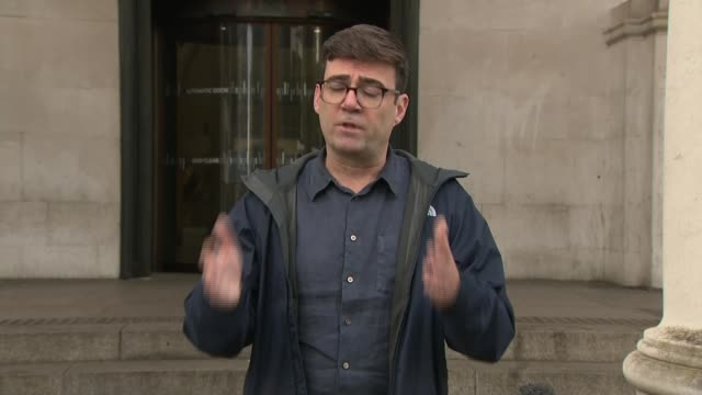 andy burnham statement; part 4 of 4 england: manchester: ext andy burnham speaking sot - you have to ask the question - earlier in the year when the... - manchester england stock videos & royalty-free footage
