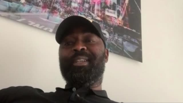 andy cole keeping video diary to document challenges of isolation england int close shot laptop screen showing andy cole speaking to reporter via... - diary stock videos & royalty-free footage