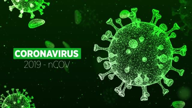 4k coronavirus animation - disease vector stock videos & royalty-free footage