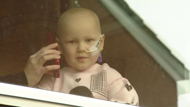 ant and dec 'stay at home' video message on behalf of fouryearold with cancer scotland falkirk ext mila sneddon interview via phone as speaking... - cancer illness stock videos & royalty-free footage