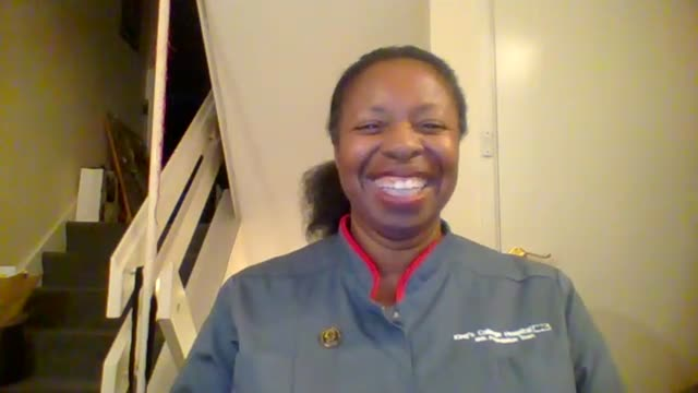 associate director of nursing at king's college hospital felicia kwaku awarded obe; england: london: gir: int felicia kwaku obe live 2-way interview... - itv london tonight stock-videos und b-roll-filmmaterial