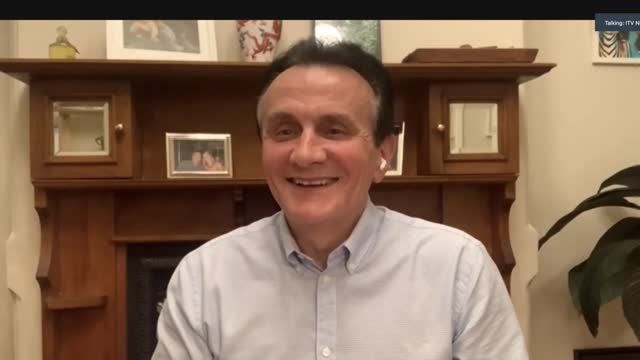 stockvideo's en b-roll-footage met astrazeneca ceo pascal soriot interview; england: london: int pascal soriot interview via internet sot, from sydney australia. - based on what we... - new not politics