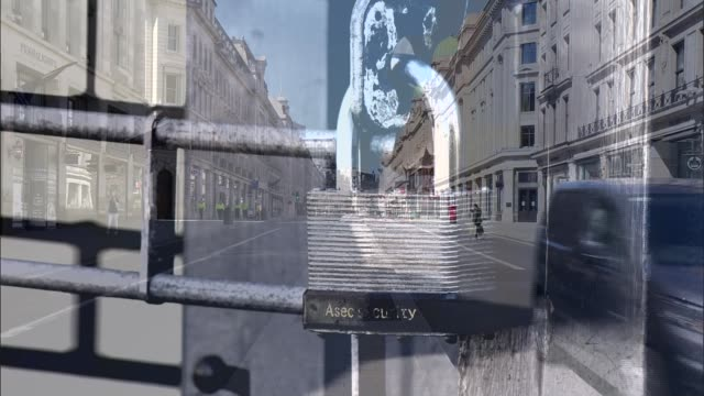 bank of england warns of sharpest recession on record; england: london: ext graphicised sequence almost deserted regent street overlaid shuttered and... - absence stock videos & royalty-free footage
