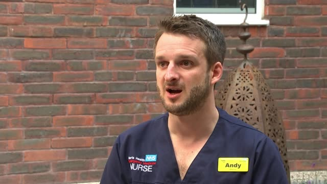 barts charity announces mental health support for staff who coped with the pandemic; england: london: ext various of medical staff from barts nhs... - radiographer stock videos & royalty-free footage