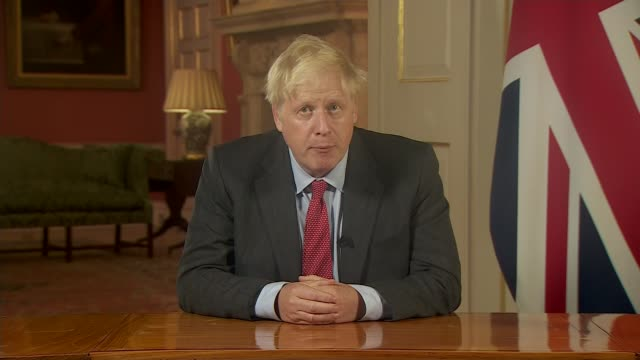 boris johnson addresses the nation as tougher uk covid rules are announced; england: london: 10 downing street: int excerpt boris johnson mp... - failure stock videos & royalty-free footage