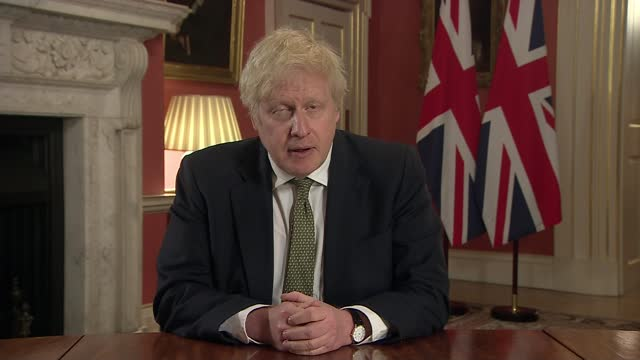 boris johnson announces covid lockdown for england; england: london: westminster: downing street: int boris johnson mp statement sot. - parents whose... - face down stock videos & royalty-free footage