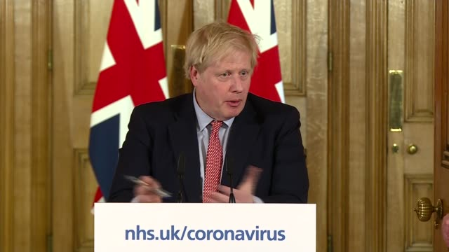 boris johnson, chris whitty and patrick vallance press conference and cutaways; england: london: westminster: downing street: int boris johnson mp ,... - altruism stock videos & royalty-free footage