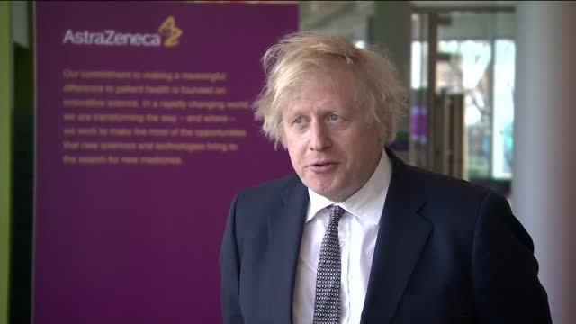boris johnson doesn't rule out international travel from 17th may; england: cheshire: macclesfield: int boris johnson mp interview sot - we're going... - vox populi stock videos & royalty-free footage